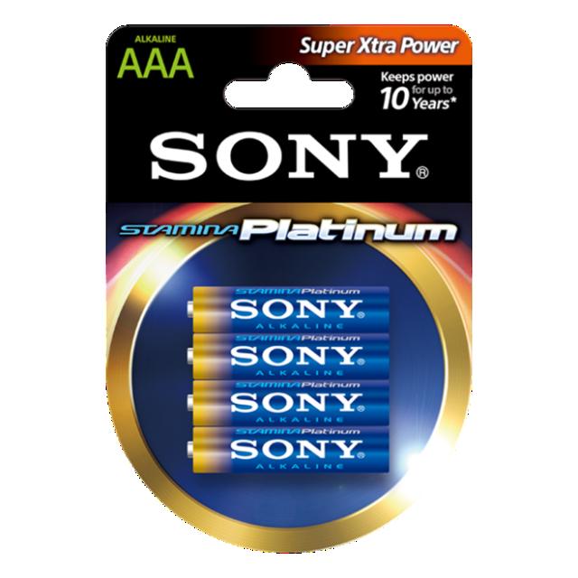 Sony Stamina Plat. alk. bat, AAA 4kom,bl