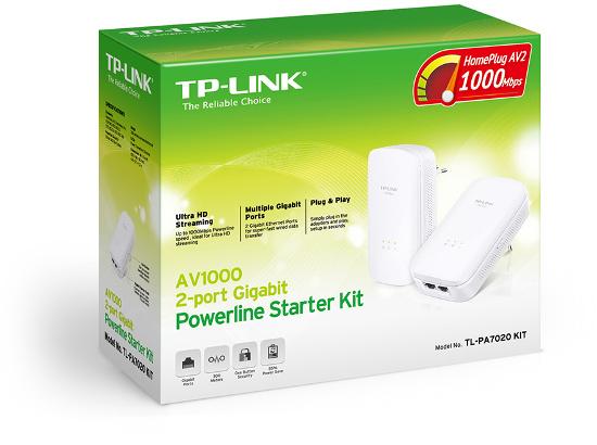 TP-Link TL-PA7020K, 1000 Mbs Gigabit Powerline kit