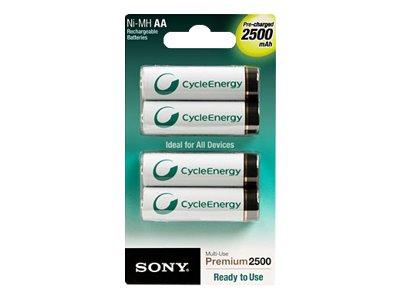 Sony punjive AA baterije, 2500mAh, 4 kom