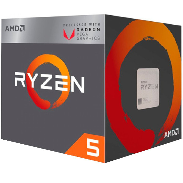 AMD Ryzen 5  2400G, 4C/8T,RX VEGA, box, AM4