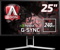 """AOC AGON 25"""", AG251FG, HDMI, DP, 240Hz, G-Sync"""