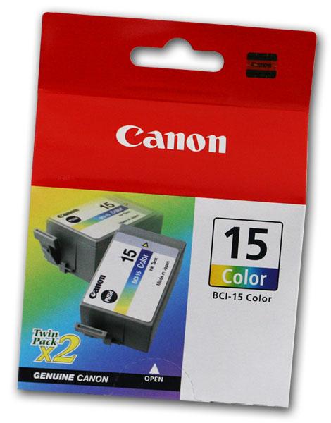 Canon tinta BCI-15COL, boja, 2 pak