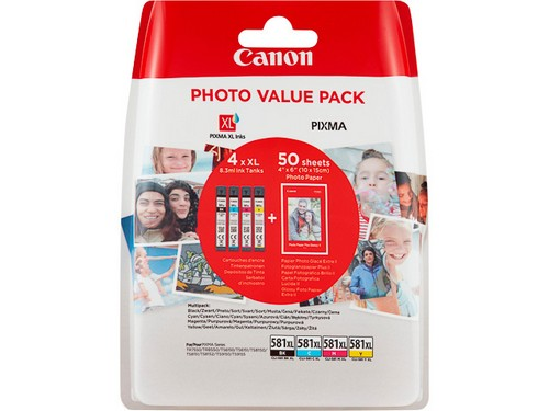 Canon tinta CLI-581 CMY - Photo Value Pack