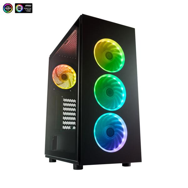 Fortron CMT 340 TG, RGB, crno sa staklom,bez napaj
