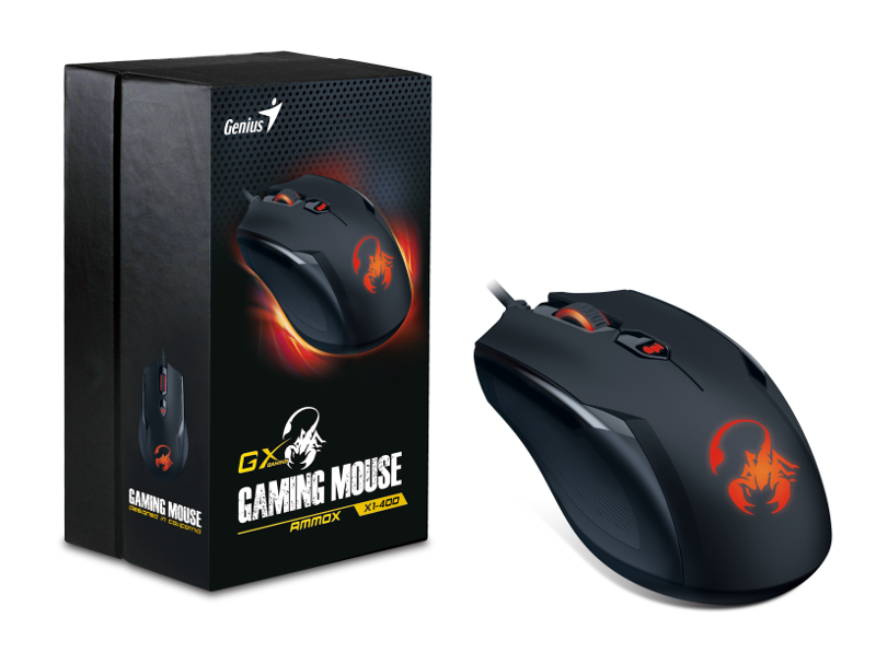 Genius Ammox X1-400, igraći miš, 3200dpi