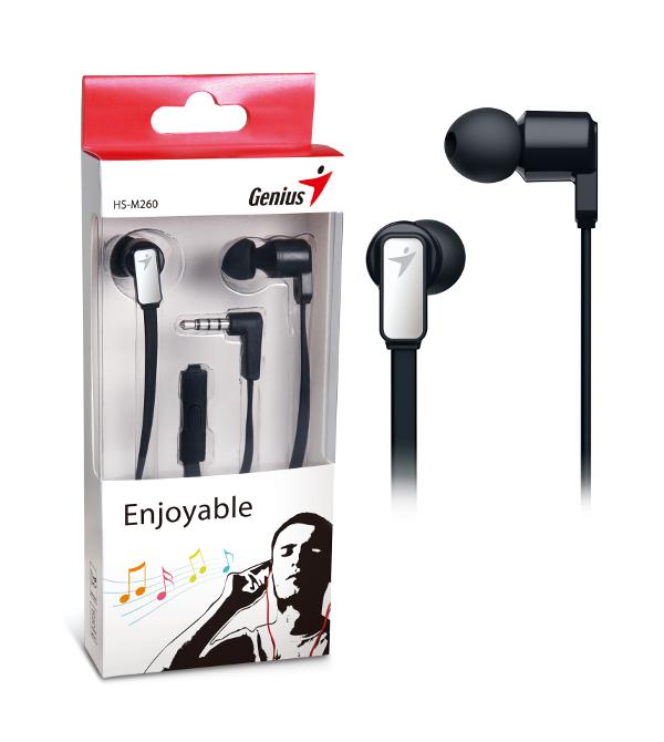 Genius HS-M260IG,in-ear headset,željezno-sive