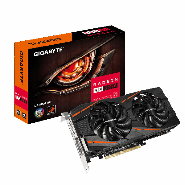 Gigabyte RX 580 GAMING, 8GB GDDR5, HDMI, DVI