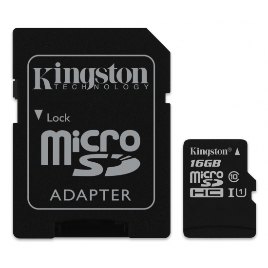Kingston microSDHC, Canvas, Class10, 16GB