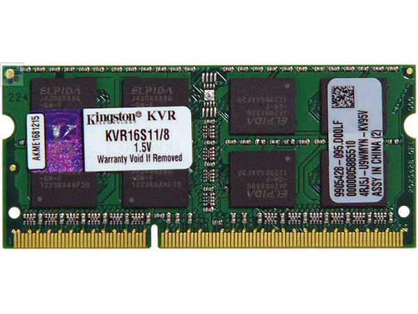 Kingston DDR3 SODIMM,1600MHz, 8GB