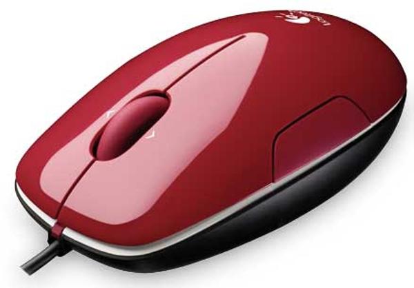 Logitech M150, laserski miš, crveni