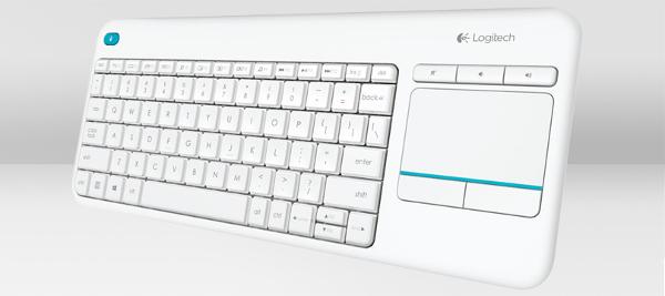 Logitech K400+,bežična tipkovnica s dodirom,bijela