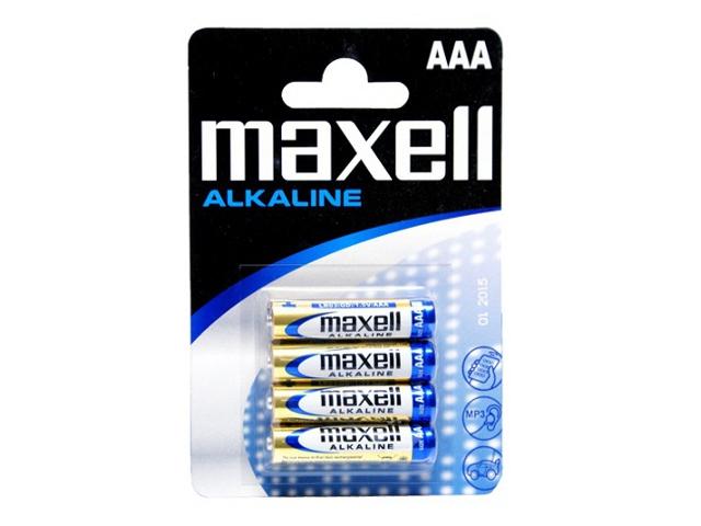 Maxell alk. baterija LR-3/AAA,4kom, blister