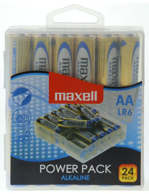 Maxell alk. baterija LR-6/AA, 24 kom, box