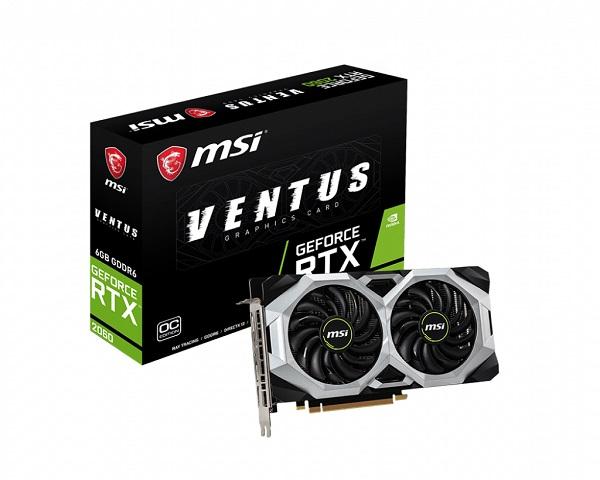 MSI GF RTX 2060 Ventus OC, 6GB