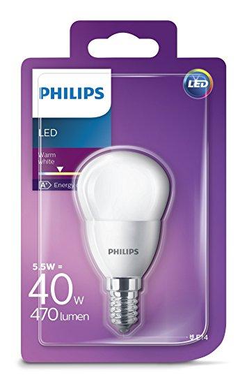 Philips LED žarulja, E14, P45, topla, 5.5W, mutna