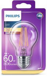Philips LED žarulja, E27, A60, topla, 6W, prozirna