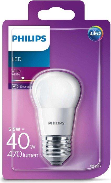 Philips LED žarulja, E27, P45, topla, 5.5W, mutna