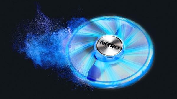 Sapphire Nitro Gear LED FAN Cyan Blue