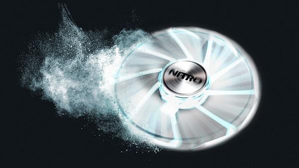 Sapphire Nitro Gear LED FAN White