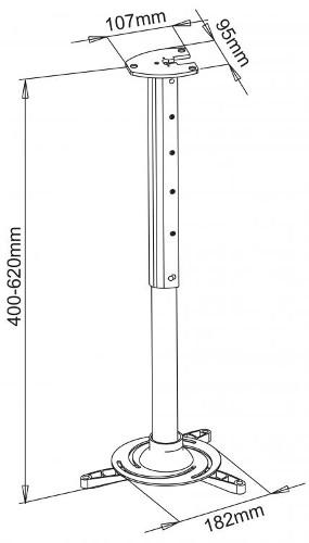 Stropni nosač projektora PM-102L 15kg