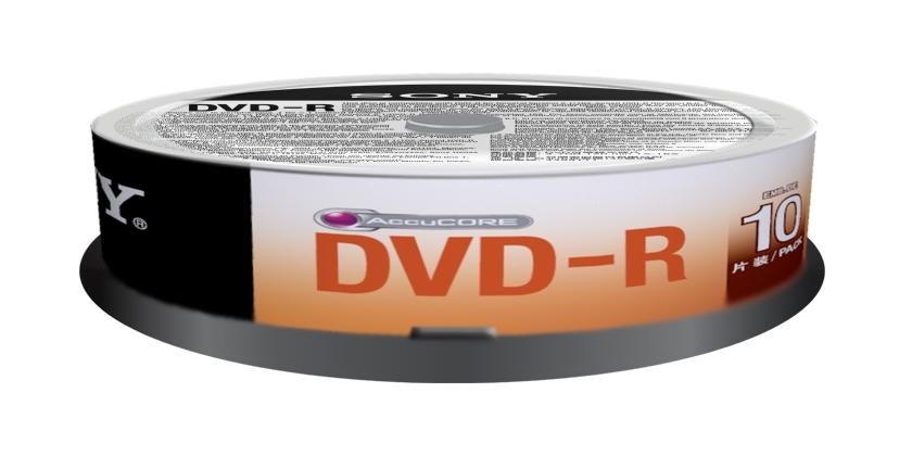 Sony DVD-R, 16x, 4.7GB, spindle, 10 kom