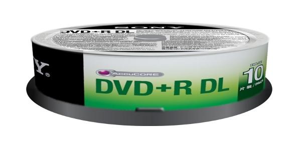 Sony DVD-R DL, 16x, 8,5GB, spindle 10 kom