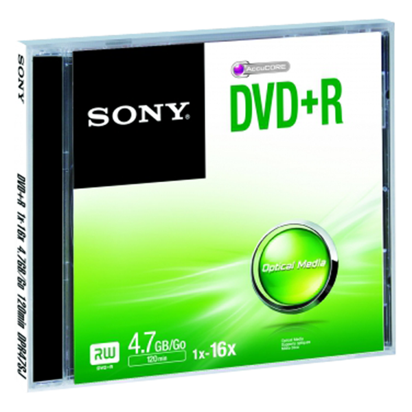 Sony DVD-R, 4,7GB, 16x, kutija