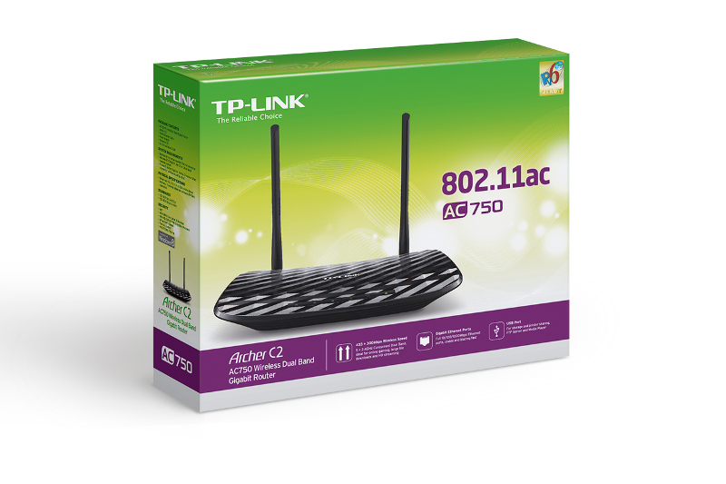 TP-Link Archer C2, AC750 WLAN Gbit router, 1W/4L