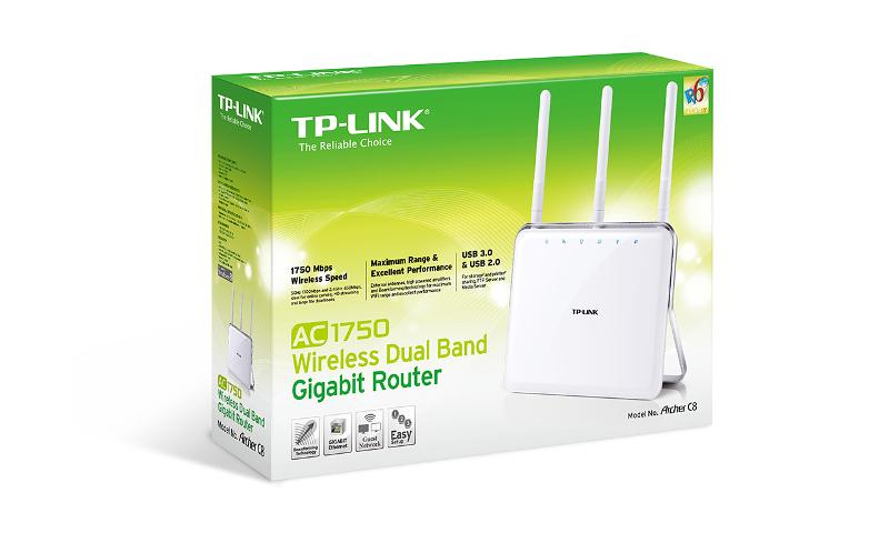 TP-Link Archer C8, AC1750 WLAN Gbit Router, 1W/4L