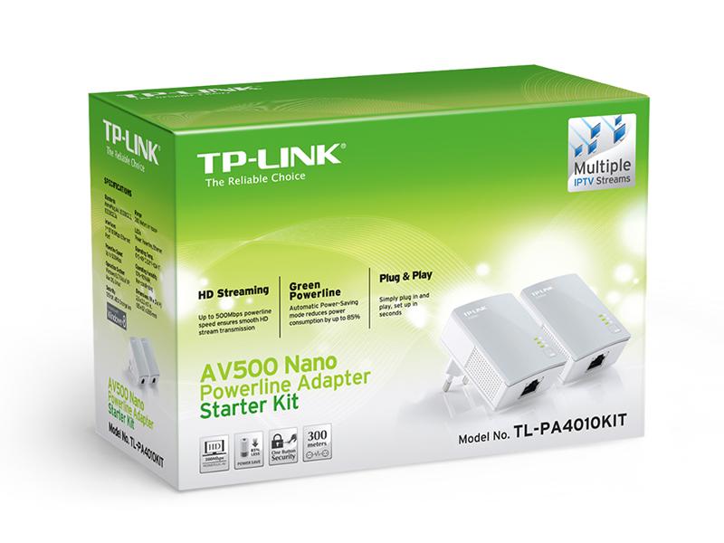 TP-Link PA4010 KIT, 500Mbps powerline starter kit