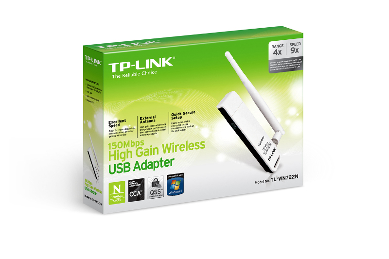 TP-Link TL-WN722N, WLAN USB adapter, 150Mbps