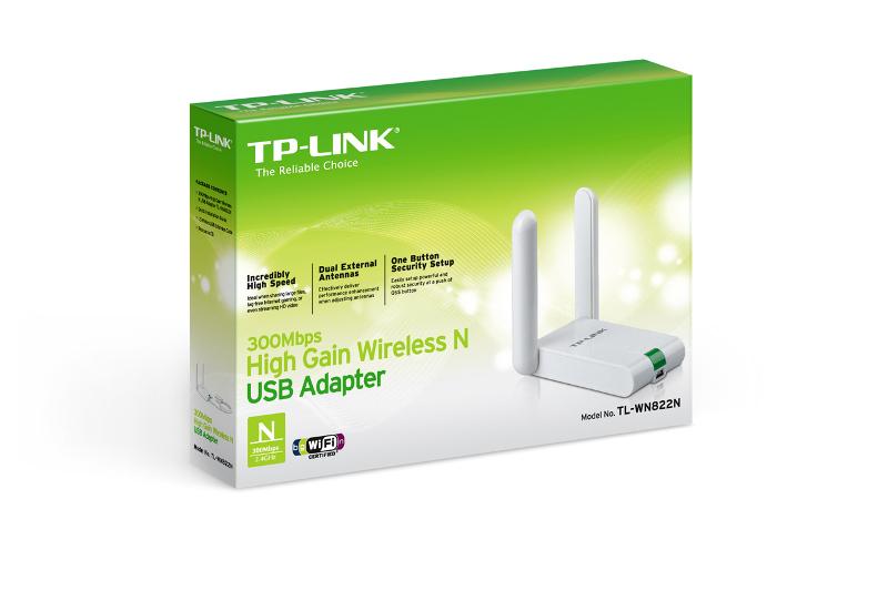 TP-Link TL-WN822N, High-Gain USB adapter 300Mbps