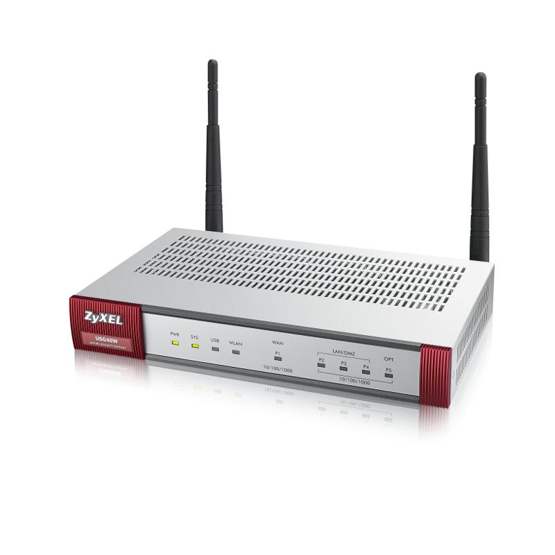 ZyXEL USG-40W security firewall 1W/3L, WiFi