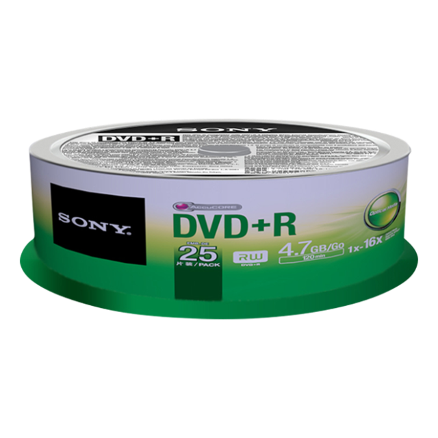 Sony DVD+R, 16x, 4.7GB, spindle, 25 kom