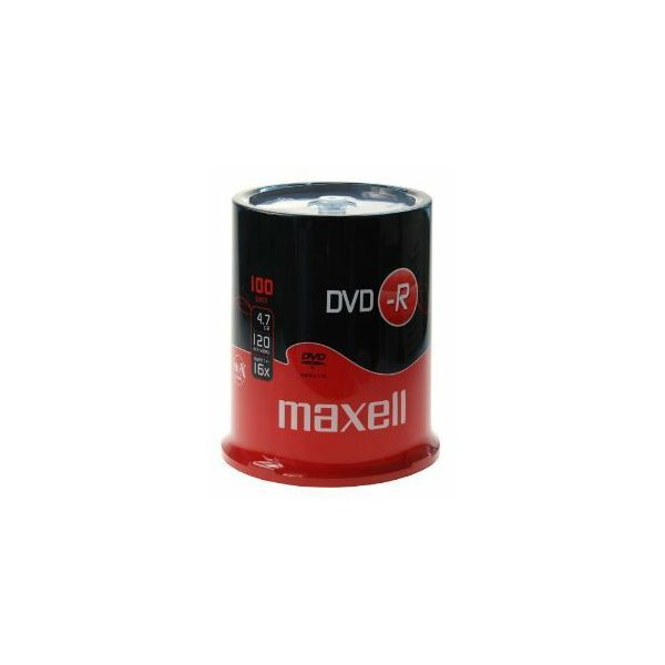 Maxell DVD-R 16x, 4.7GB 100 kom spindle