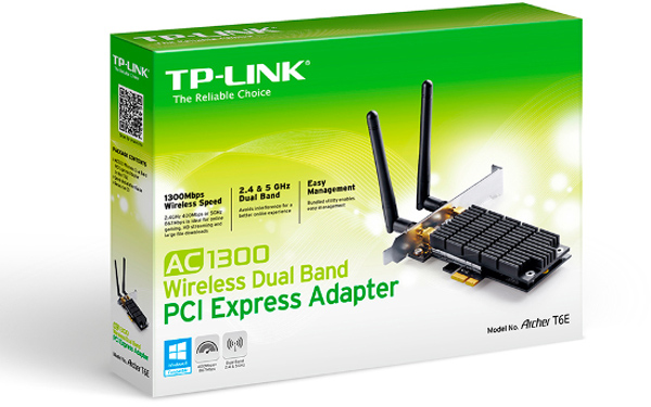 TP-Link Archer T6E, WLAN Dual Band Wireless PCI