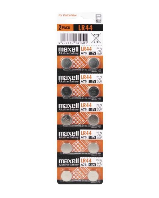 Maxell alk. dugm. baterija LR44,10kom, 5x2