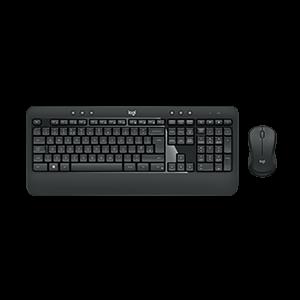 Logitech Advanced, bežična tipkovnica i miš, crna