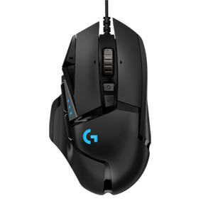 Logitech G502 HERO gaming miš, crni