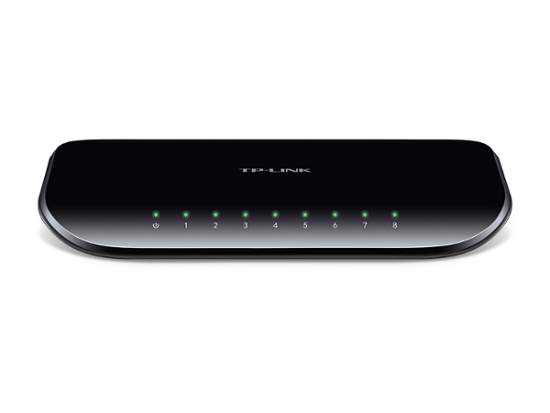TP-Link TL-SG1008D, 8-port GbE switch, plastično