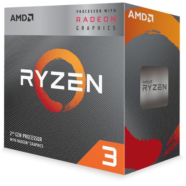 AMD Ryzen 3 3200G, 4C/4T, 3.6GHz,RX VEGA, box, AM4