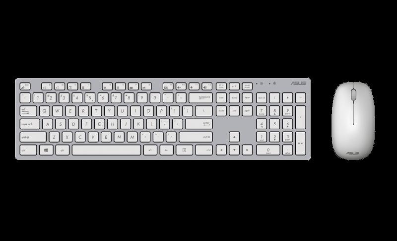 ASUS W5000, bežična tipkovnica i miš, bijeli
