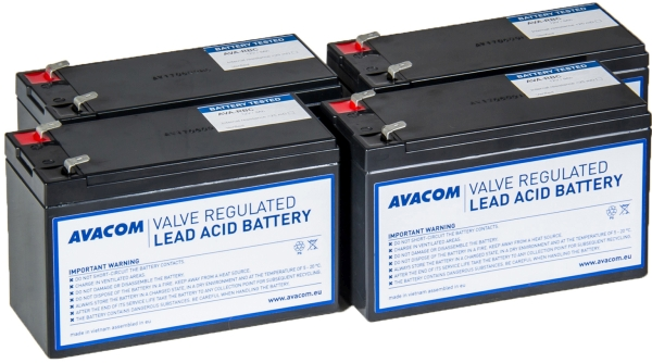 Avacom baterijski kit za APC RBC132 (4 bater.)