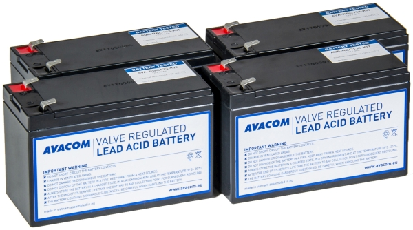 Avacom baterijski kit za APC RBC133 (4 bater.)