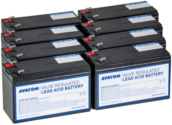 Avacom baterijski kit za APC RBC27 (8 bater.)