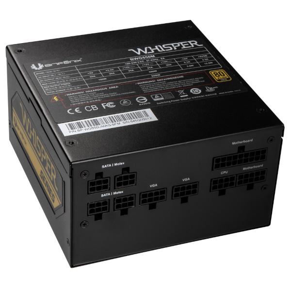 BitFenix Whisper M 550W 80+ Gold, modularno nap.
