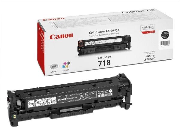 Canon toner CRG-718Bk, crni - 2 komada