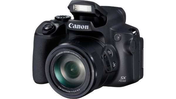 Canon SX70 HS, 20MP, 65x zoom, WiFi, 4k, crni