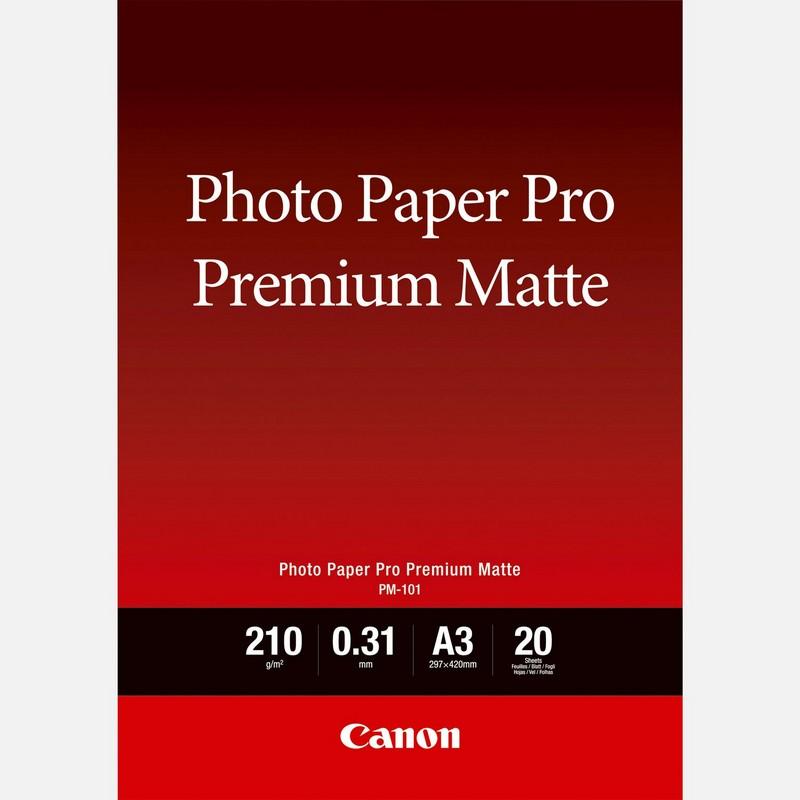 Canon Photo Paper Premium Matte PM101 - A3- 20L