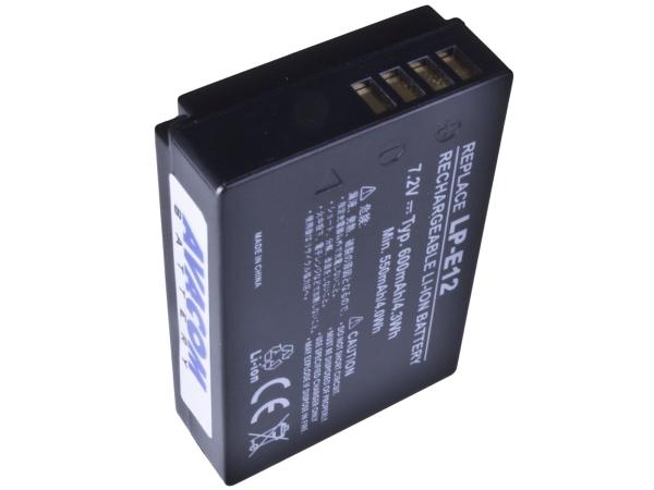 Bater.za Canon LP-E12 Li-Ion 7.4V 600mAh 4.3Wh